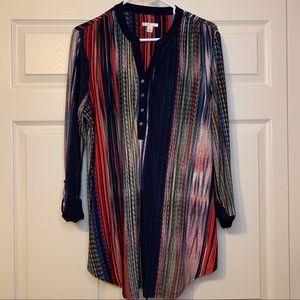 2/$18🔥Fun patterned heavyweight tunic top